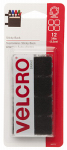 Velcro Usa Consumer Pdts 90072 Sticky Back Fasteners, Black, 7/8-In. Squares, 12-Ct.