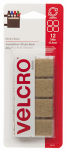 Velcro Usa Consumer Pdts 90074 Sticky Back Fasteners, Beige, 7/8-In. Squares, 12-Ct.