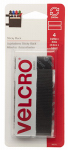 Velcro Usa Consumer Pdts 90075 Sticky Back Fasteners, Black, 3.5-In. Strips, 4-Ct.