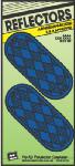 Hy-Ko Prod CORB-7B 2-Pack 4-3/8-Inch Blue Oval Reflectors