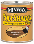 Minwax The 213504444 1/2-Pint Satin Royal Walnut Polyshades Stain