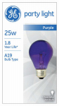 G E Lighting 22731 25-Watt Purple Party Bulb