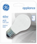 G E Lighting 27495 Appliance Light Bulb, Frosted, 40-Watt