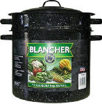 Columbian Home Products 6140 Graniteware Ceramic-On-Steel 7-1/2 Qt. Covered Blancher