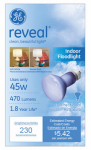 G E Lighting 73439 Reveal 45-Watt Reveal Reflector Flood Bulb