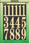 Hy-Ko Prod MM-5N Address Number Set, Gold, Embossed Polyester, 3-In.