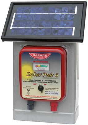 Parmak DF-SP-LI Electric Fence Charger, 25-Mile, Solar-Pak,