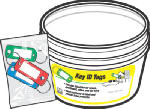 Hy-Ko Prod KB138-BKT Key Identification Tag with Split Ring In Display Bucket, Assorted, 20-Pc., 3-Pk.