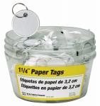 Hy-Ko Prod KB144-BKT Paper Tag with Split Ring In Display Bucket, 1.25-In., 25-Pc., 5-Pk.