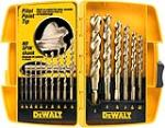 Dewalt Accessories DW1956 16-Piece Pilot-Point Drill Bit Set