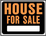 "Hy-Ko Prod SP-103 15 x 19-Inch Hy-Glo Orange/ Black Plastic ""House For Sale"" Sign"