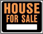 "Hy-Ko Prod SP-103 ""House For Sale"" Sign, Hy-Glo Orange/Black Plastic, 15 x 19-In."