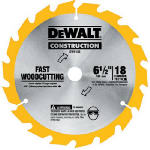 Dewalt Accessories DW9155 Framing Blade, 6.5-In., 18-Teeth