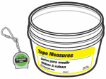 Hy-Ko Prod KB224-BKT 40PC Tape Measure/Ring