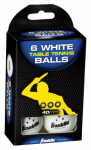 Franklin Sports Industry 57102 Table Tennis Balls, 3-Star, White, 6-Pk.