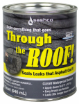 Sashco Sealants 14023 Through The Roof Sealant, Clear, 1-Qt.
