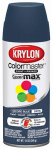 Krylon Diversified Brands K05352302 Colormaster Spray Paint, Indoor/Outdoor Use, Satin Oxford Blue, 12-oz.