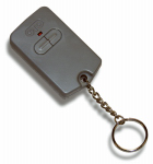 Gto FM134 Electric Gate Key Chain Transmitter, 2-Button Control, Battery-Operated