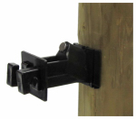 Dare Products SNUG-SWP-25 B Electric Fence Insulator, Wood Post Wire, Snug-Fit With Nail, Black, 25-Pk.