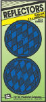 Hy-Ko Prod CDRF-5B Safety Reflector, Nail-On, Blue Plastic, 3.25-In., 2-Pk.