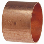 Elkhart Products 46230 1-1/4-Inch Wrot Copper DWV Coupling With Stop