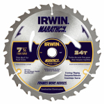 Irwin Industrial Tool 14030 Marathon Circular Saw Blade, C3 Carbide-Tipped, 7.25-In.