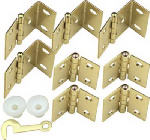 National Mfg/Spectrum Brands Hhi N269-860 Brass Hinge Kit or Kitchen for Interior Wood Shutter