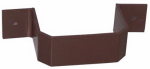 Genova Products AB202 Duraspout Gutter Bracket, Brown Vinyl, 2 x 3-In.