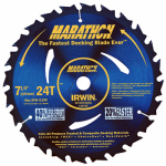 Irwin Industrial Tool 14130 Lumber/Deck Saw Blade, Micro-Grain C3, 7.25-In.
