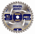 Irwin Industrial Tool 14031 7-1/4 Inch C3 Carbide-Tipped Marathon Saw Blade