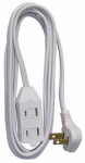 Ho Wah Gentin Kintron Sdnbhd 09417ME Extension Cord, 16/2 SPT-2 White, Low Profile Polarized Slender Plug, 7-Ft.