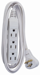 Ho Wah Gentin Kintron Sdnbhd 03517ME Extension Cord, 16/3 SPT-2 White Vinyl Low Profile Grounded Slender Plug, 6-Ft.
