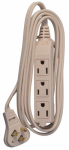 Ho Wah Gentin Kintron Sdnbhd 03507ME Extension Cord, 16/3 SPT-2 Beige Low Profile Cube Tap, 6-Ft.