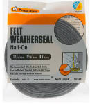 Thermwell S214/17H Felt Weatherstrip Tape, 1-1/4 x 3/16-In. x 17-Ft.