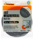 Thermwell S258/17H Felt Weatherstrip Tape, 5/8 x 3/16-In. x 17-Ft.