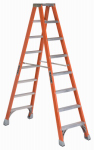 Louisville Ladder FM1508 8-Ft. Twin Ladder, Fiberglass, Type-IA 300-Lb. Duty Rating