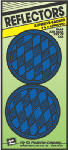 Hy-Ko Prod CDRF-4B Safety Reflector, Press-On, Blue Plastic, 3.25-In., 2-Pk.