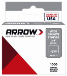 Arrow Fastener 60430 Heavy Duty Staple, 1/4-In., 1000-Pk.