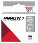 Arrow Fastener 60630 Staples, Wide Crown, 3/8-In., 1000-Pk.