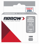 Arrow Fastener 60830 Staples, Wide Crown, .5-In., 1000-Pk.