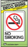 "Hy-Ko Prod D-20 Sign, ""No Smoking"", Peel & Stick, Red & Black Plastic, 5 x 7-In."