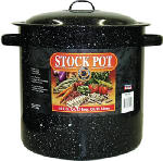 Columbian Home Products 6124T-1 Stock Pot, Black Ceramic/Steel, 15-1/2-Qts.