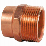 B&K A 67012 1-1/4 Inch Male Pipe Thread Wrot Copper DWV Adapter