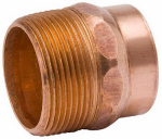 Elkhart Products 47052 1-1/2 Inch Male Pipe Thread Cast Bronze DWV Adapter
