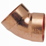 B&K W 67421 1-1/2 Inch Wrot Copper 45 Degree DWV Elbow