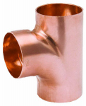 B&K W 67511 1-1/2 Inch Wrot Copper DWV 90 Degree Sanitary Tee