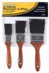 Linzer/American Brush A225 3-Piece Polyester Bristle Varnish & Sash Paint Brush Set