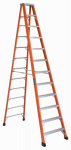 Louisville Ladder FS1312HD 12-Ft. Heavy Duty Step Ladder, Fiberglass, Type IAA, 375-Lb. Duty Rating