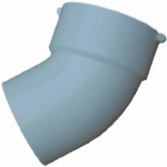 Genova Products 42740 Sewer & Drain Street Elbow, 45-Degree, 4-In.