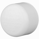 Genova Products 30152 PVC Pressure Pipe Cap, White PVC, 2-In.